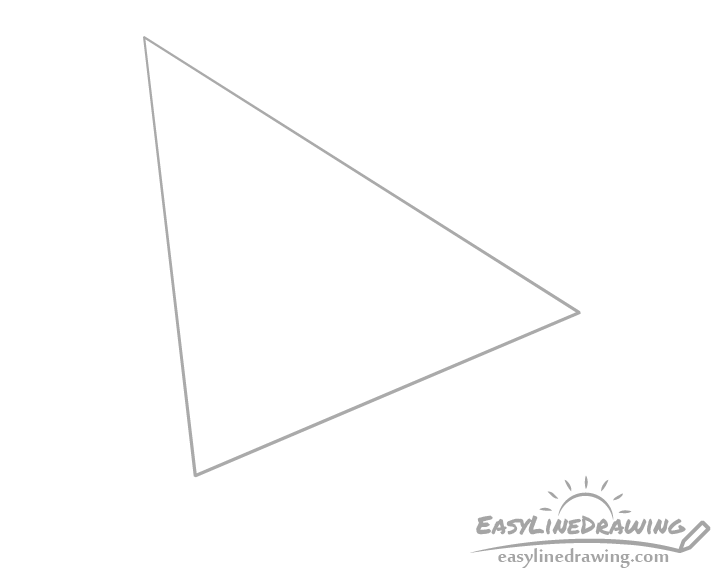 Paper airplane top drawing
