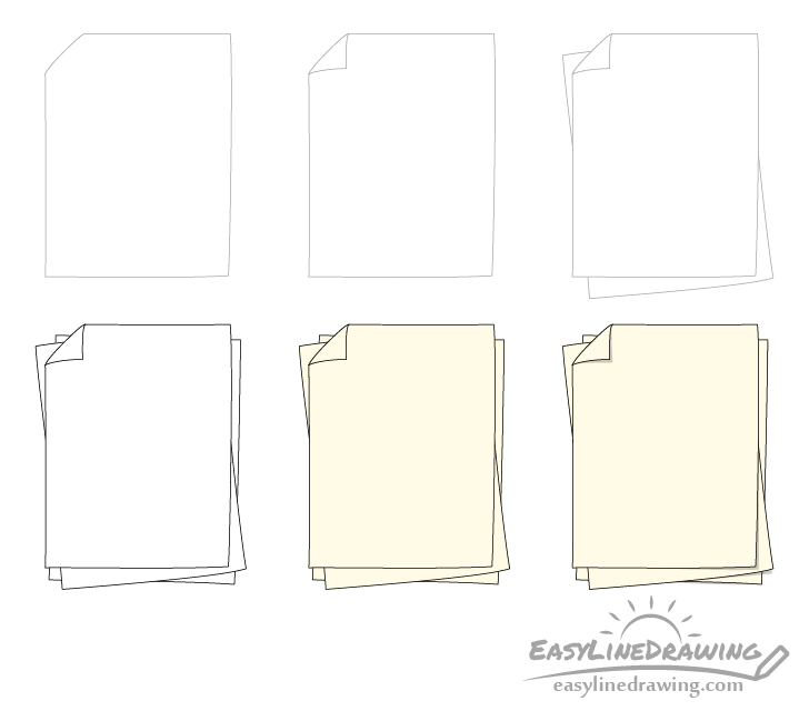 Paper drawing step by step