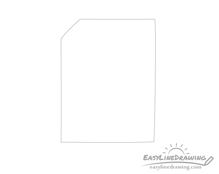 Paper sheet outline drawing