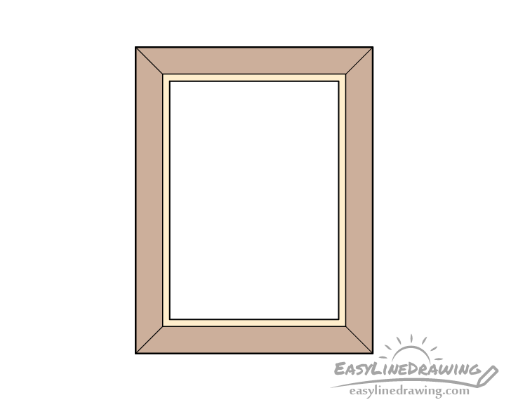 Picture frame drawing coloring