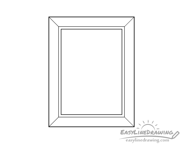 Picture frame line drawing