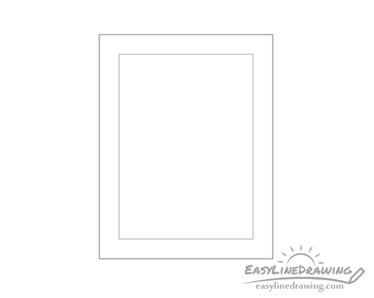 Picture frame outline drawing
