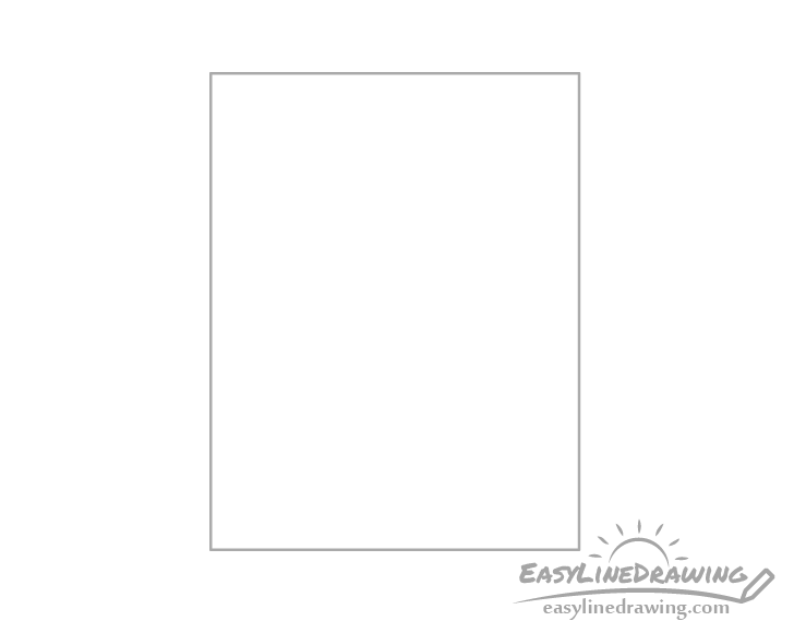 Picture frame shape drawing