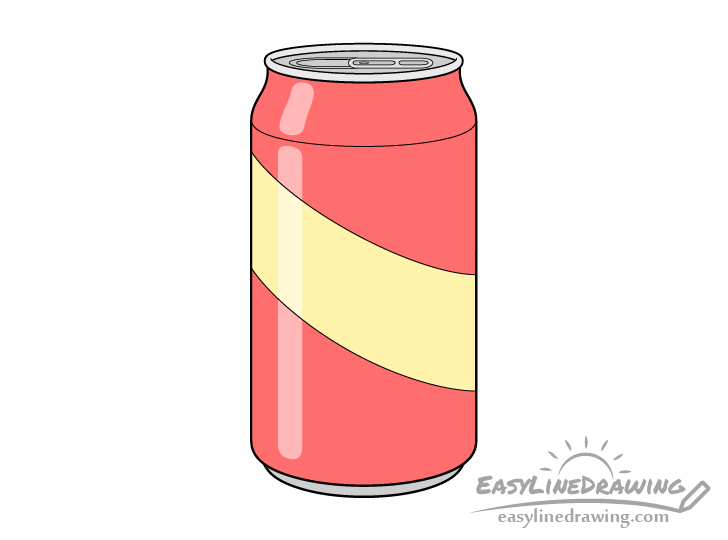 Pop can drawing