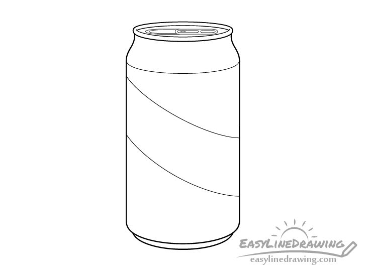 Pop can line drawing