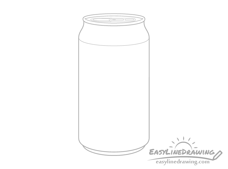 Pop can opening mechanism drawing
