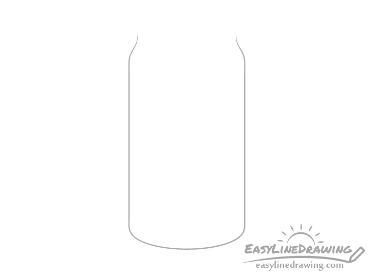 Pop can outline drawing