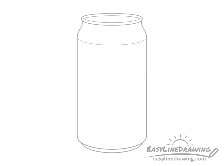 Pop can ring drawing