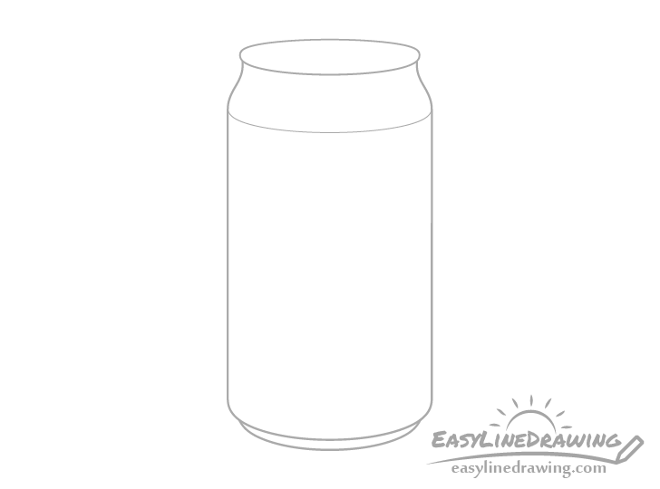 Pop can shape drawing