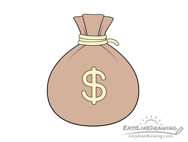 Sack of money drawing