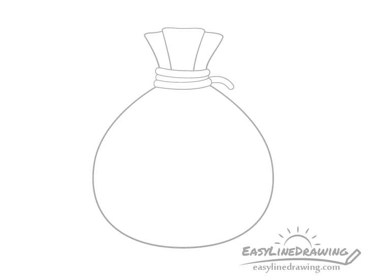 Sack of money top drawing