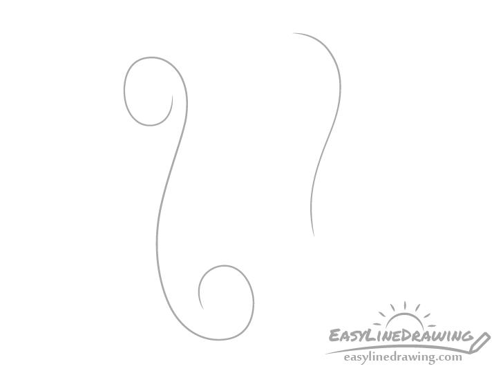 Scroll curl drawing