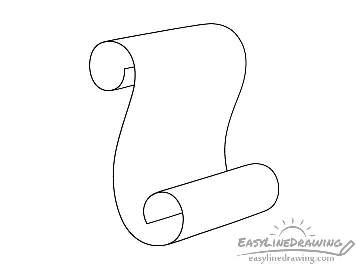 Scroll line drawing