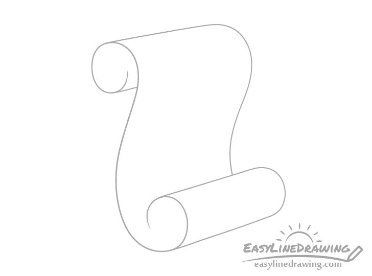 Scroll rolls drawing