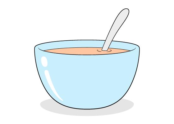 Soup bowl drawing tutorial