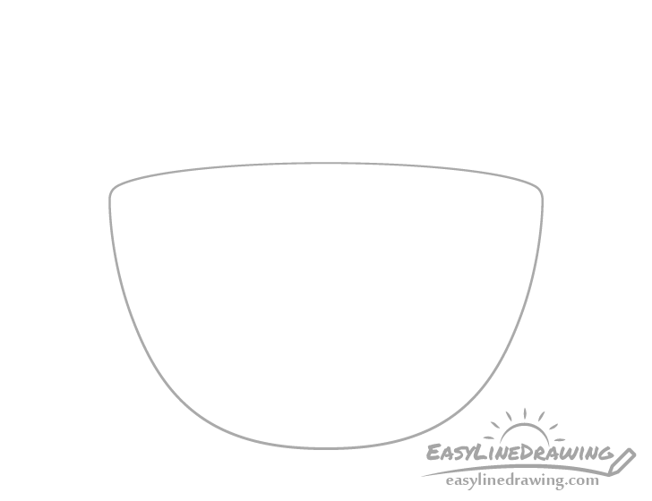 Soup bowl outline drawing