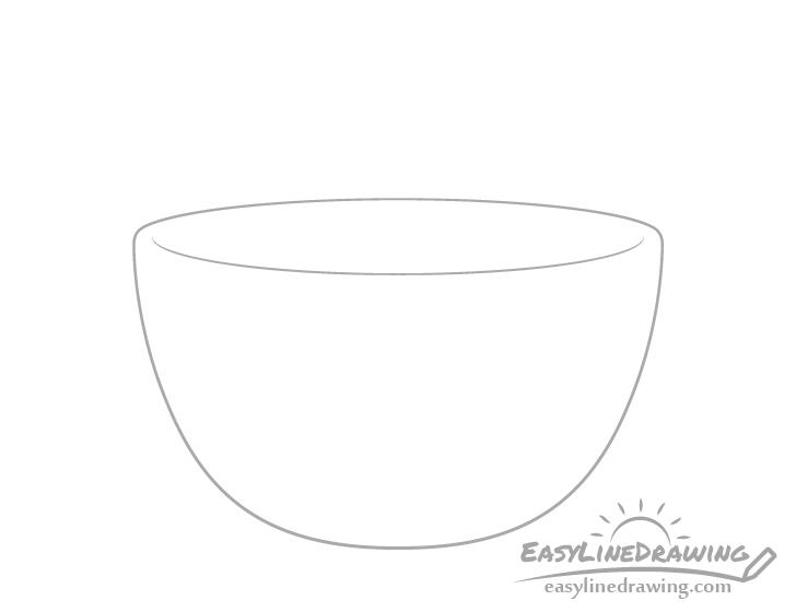 Soup bowl rim drawing