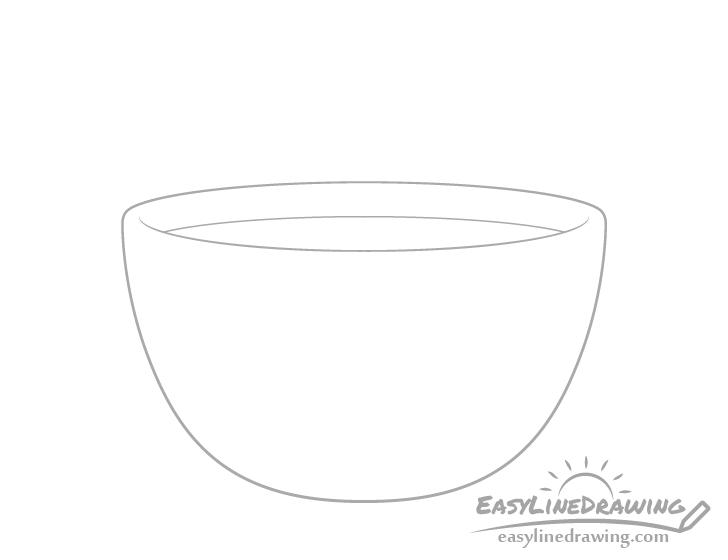 Soup bowl soup drawing