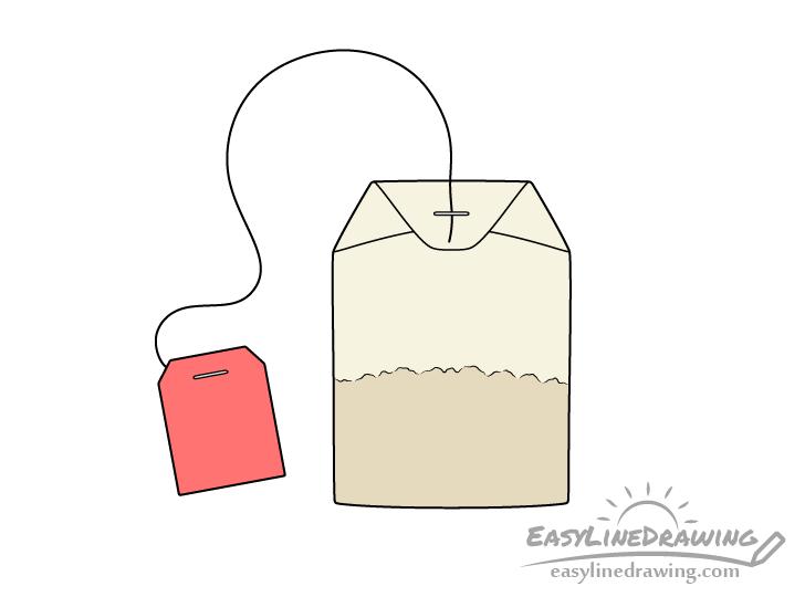 Tea bag drawing