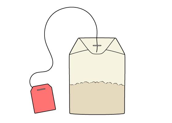 Tea bag drawing tutorial