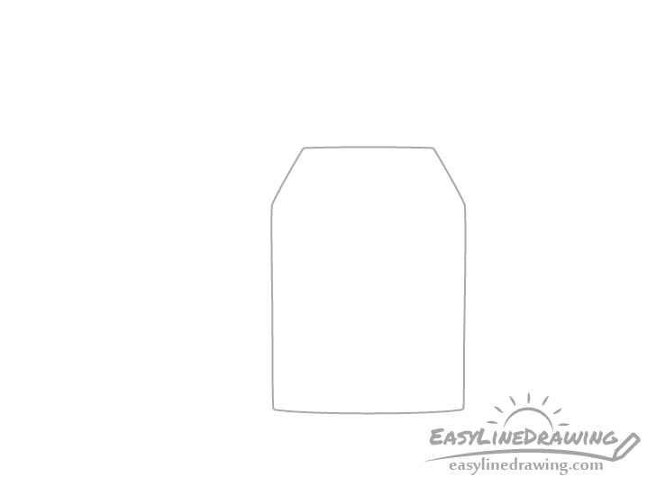 Tea bag outline drawing
