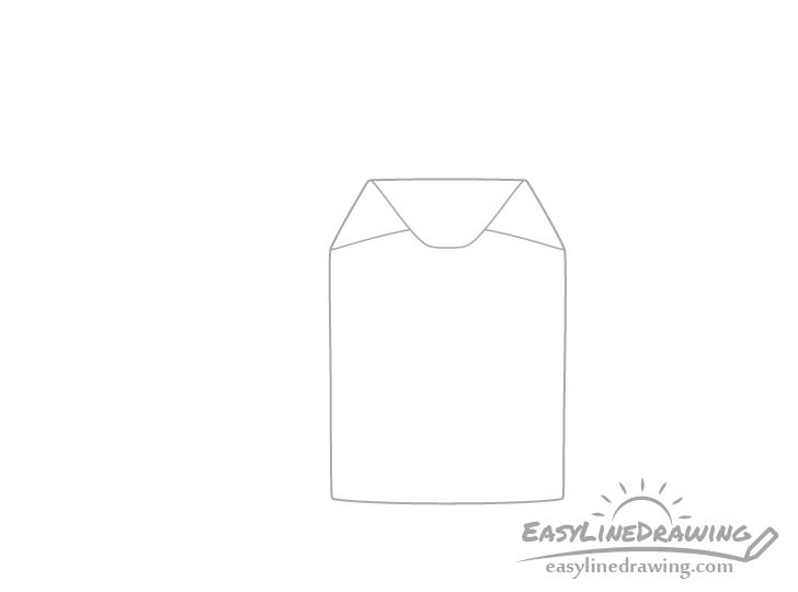 Tea bag side folds drawing