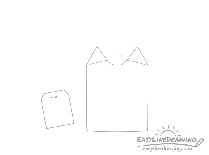 Tea bag staples drawing