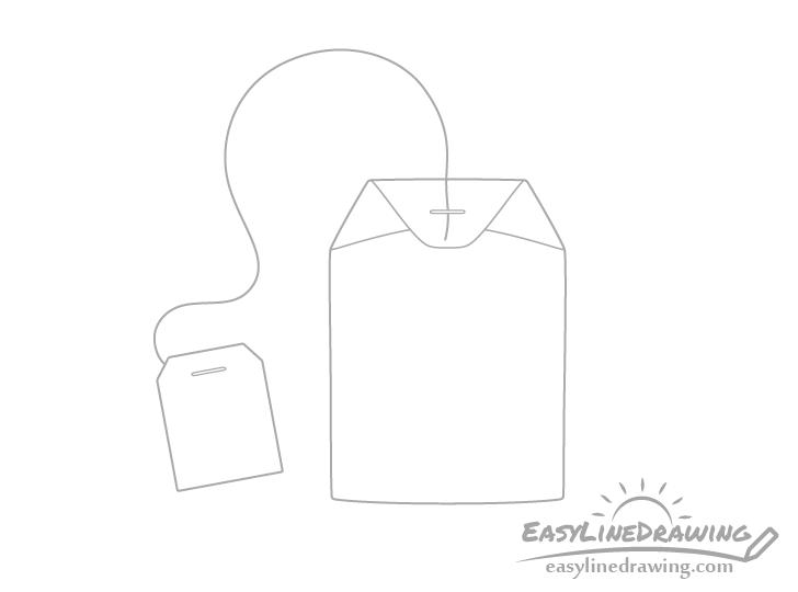 Tea bag string drawing