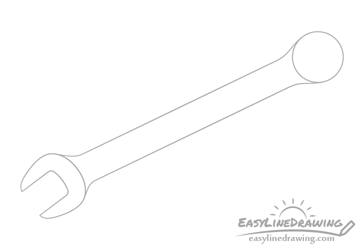 Wrench handle drawing