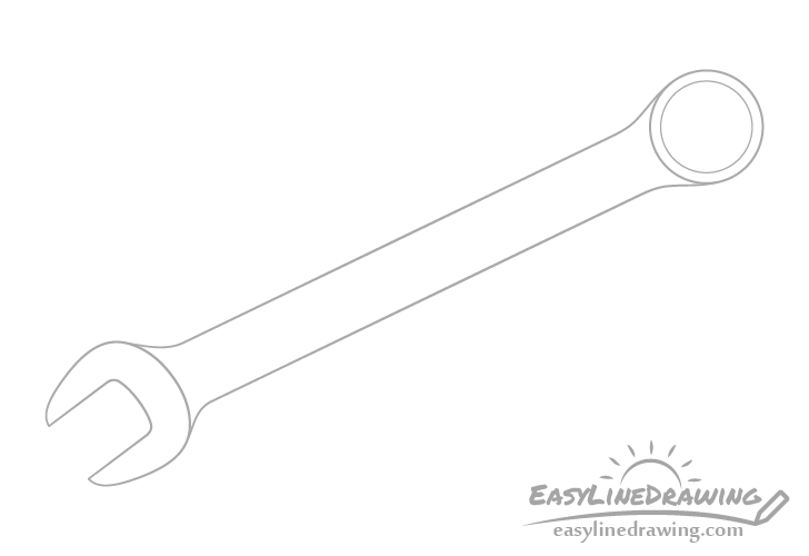 Wrench hole drawing
