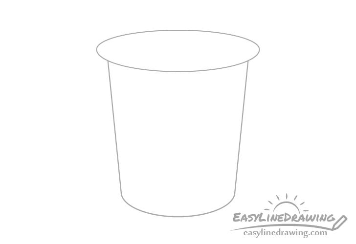 Yogurt cup drawing