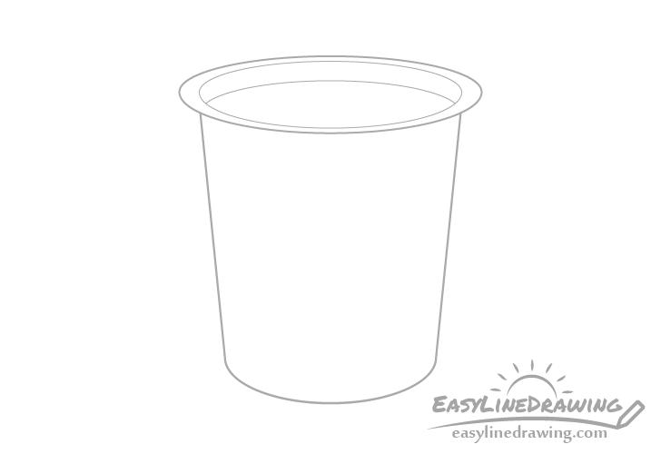 Yogurt level drawing