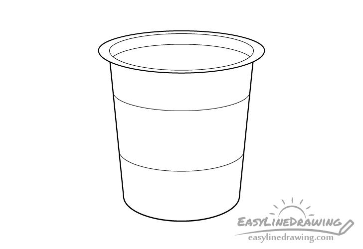Yogurt line drawing