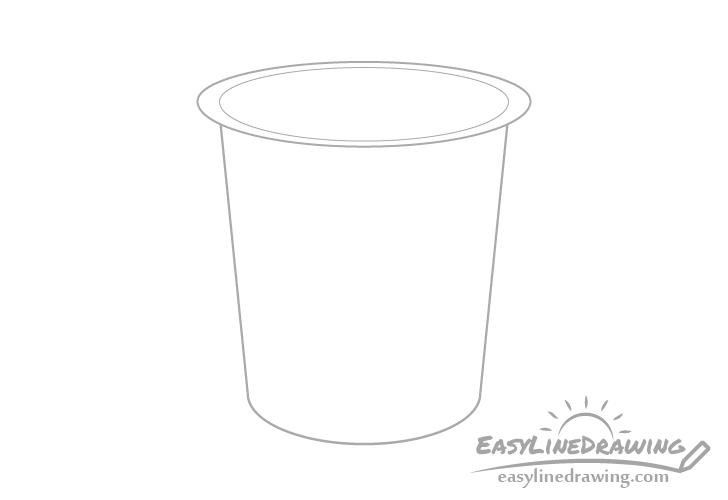 Yogurt opening drawing