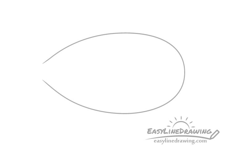 Almond shape drawing