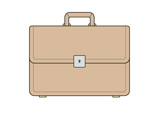 Briefcase drawing tutorial