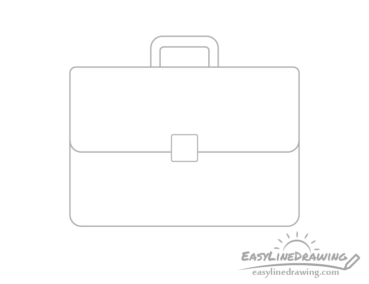 Briefcase flap drawing