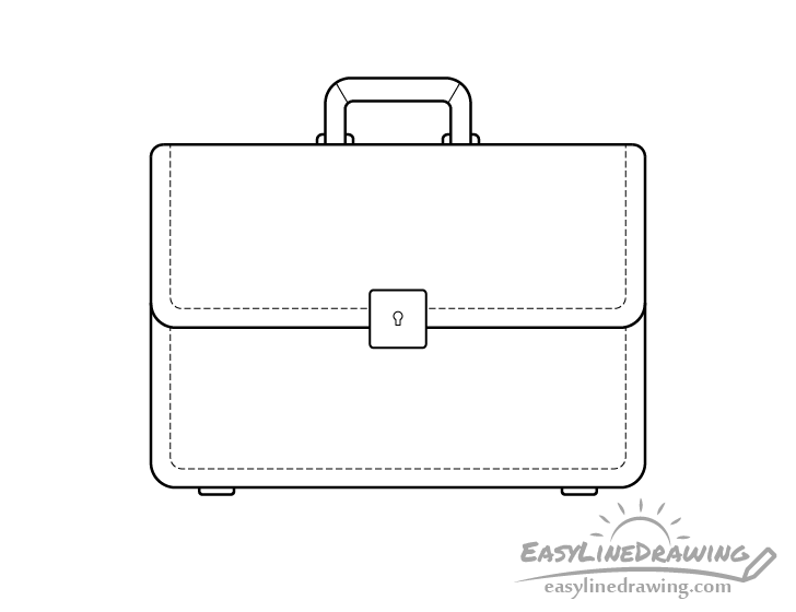 Briefcase line drawing