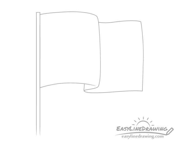 Flag outline drawing