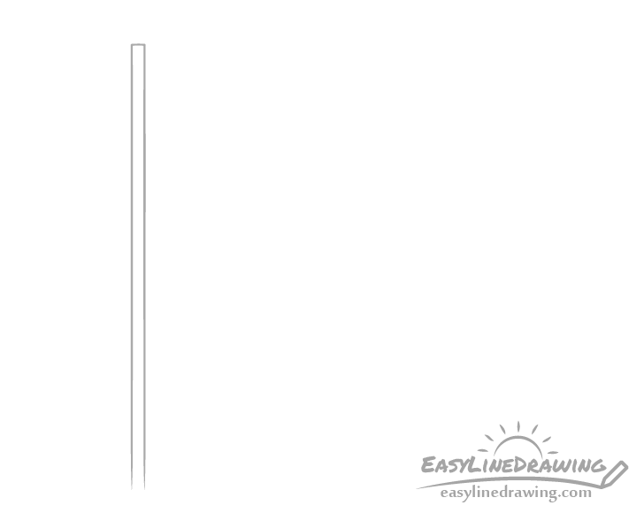 Flag pole drawing