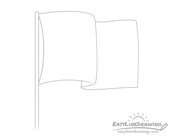Flag space drawing
