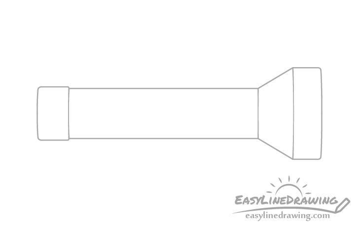 Flashlight cap drawing