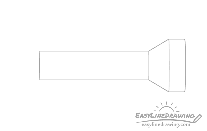 Flashlight grip drawing