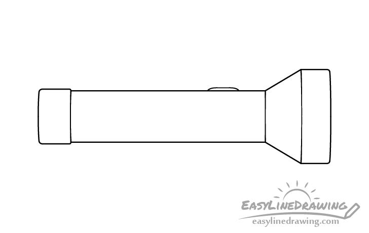 Flashlight line drawing