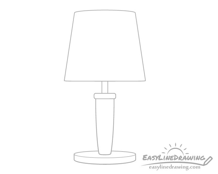 Lamp base drawing