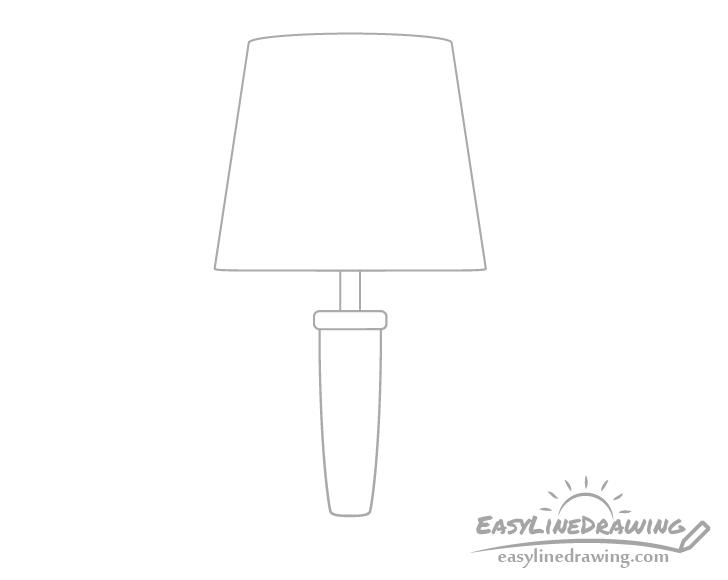 Lamp column drawing
