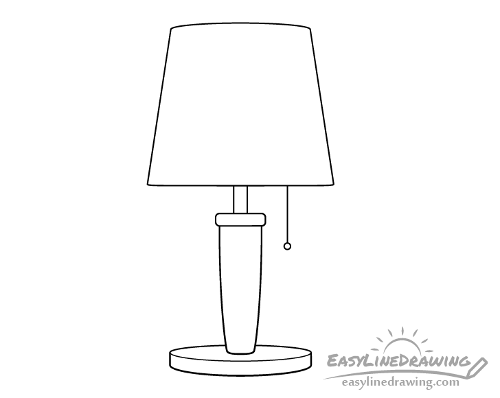 Lamp line drawing
