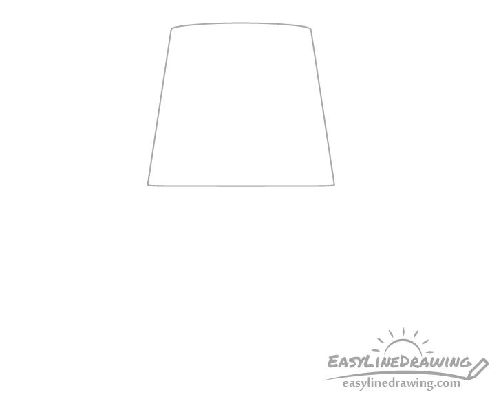 Lamp shade drawing