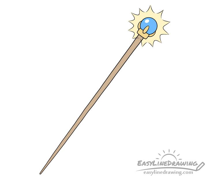Magic staff drawing