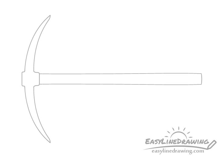 Mining pick handle drawing